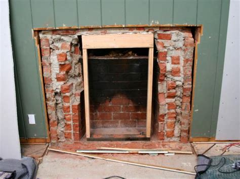 How To Cover A Fireplace Opening by Removing A Brick Fireplace Hgtv