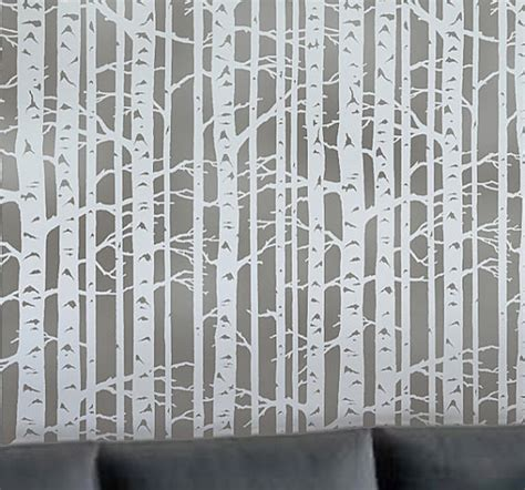 wall template stencils wall stencil birch forest by cutting edge stencils