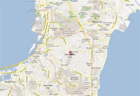 map of paranaque city paranaque map and paranaque satellite image