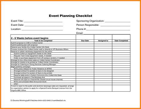 events checklist template 11 event checklist template hvac resumed
