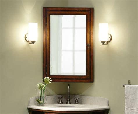 bathroom medicine cabinet mirror replacement corner