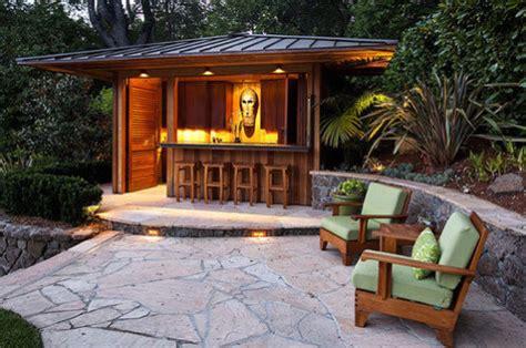 Backyard Cabana Ideas by Garten Bar Selber Bauen Freshouse