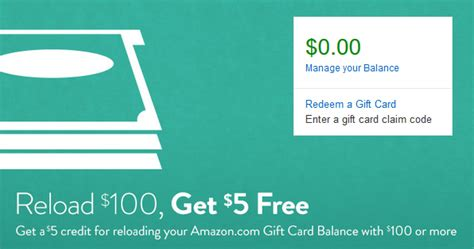 Amazon Gift Card Coupon - amazon 5 bonus with gift card purchase