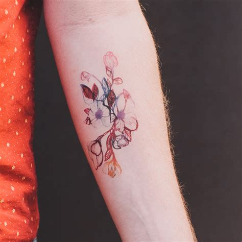 delicate flower tattoos 40 breathtaking watercolor flower designs amazing