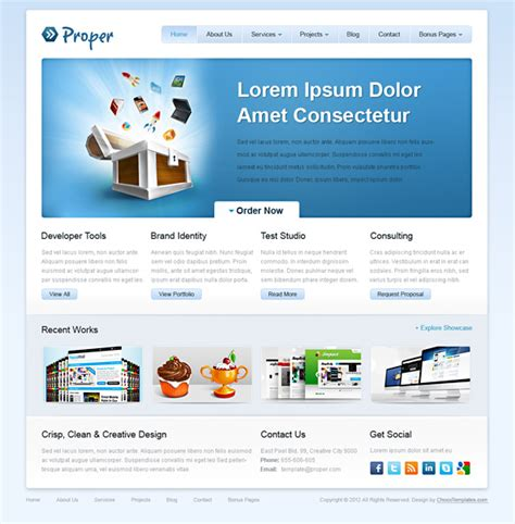 Free Website Css Template Proper Website Css Templates Free Css Website Templates