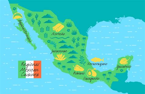 regional map of mexico a guide to the regional cuisines of mexico food republic