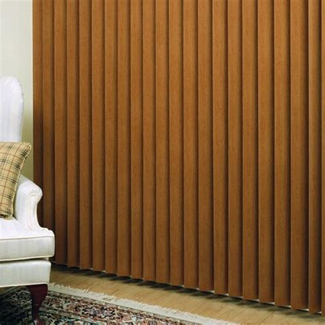 Wooden Vertical Blinds Textured Faux Wood Vertical Blind