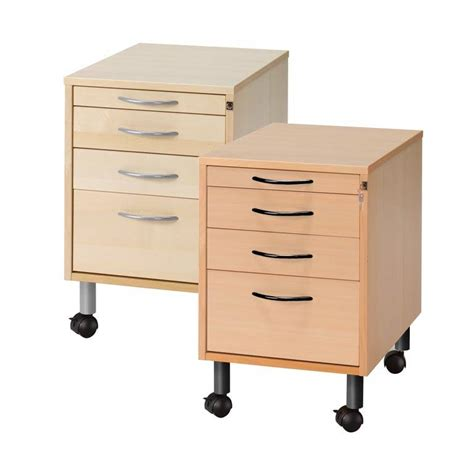 Mobile Storage Drawers Mobile Storage Unit 4 Drawers Aj Products