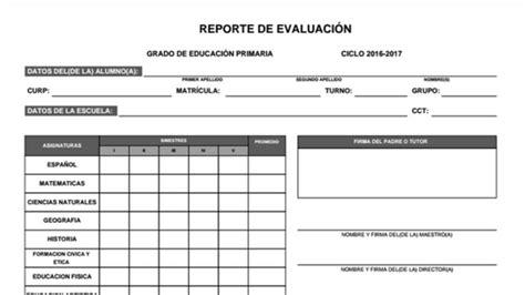 formato de boleta para secundaria ciclo 2016 2017 formato de boleta de calificaciones material didactico