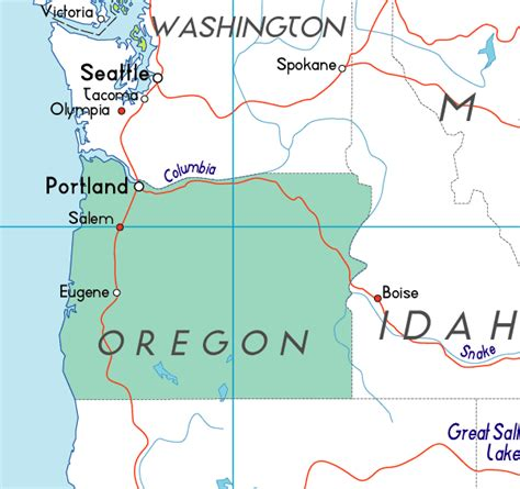 oregon on a map of usa map of oregon in the usa
