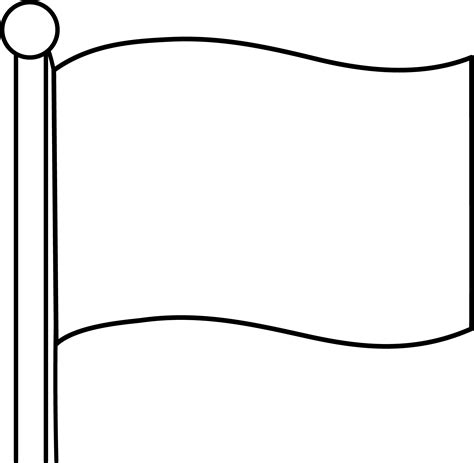 Blank Flag Coloring Page blank flags white gold