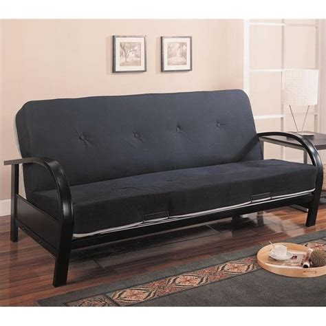 coaster futons coaster contemporary metal futon frame in black 300159