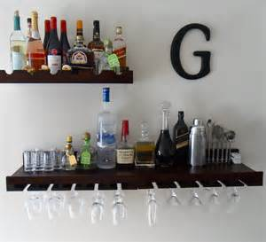 shelves for bar space saving wall bar it with danielle