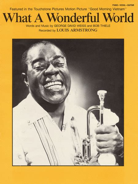 what a wonderful world what a wonderful world sheet by louis armstrong
