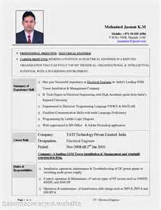 Resume Exles Electrician Sle Electrician Resume Objectives Free Resumes Tips