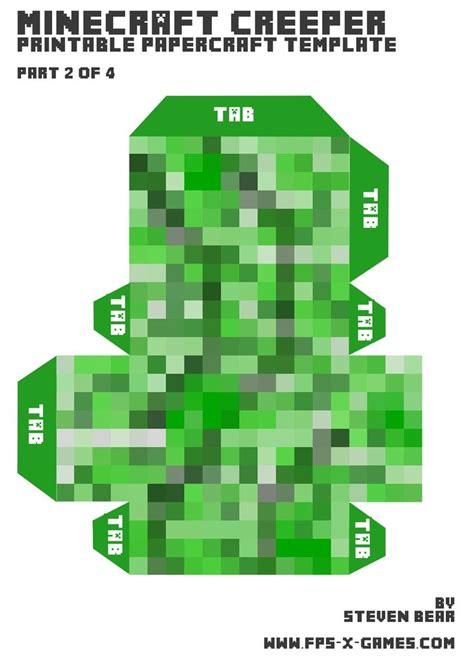 How To Make A Paper Creeper From Minecraft - 78 best images about birthday on