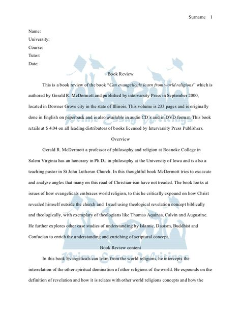 Book Of Essay by High School Level Book Report Format