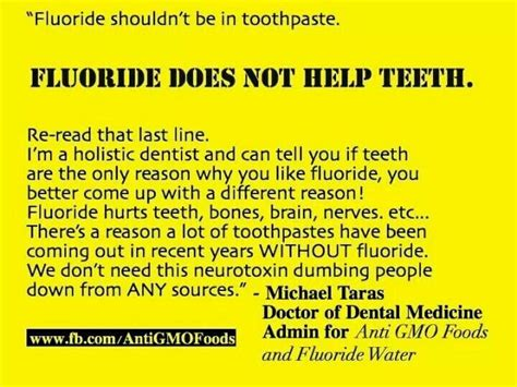 Fluoride Detox Side Effects by Fluoride Is Toxic Gmo Monsanto Awareness