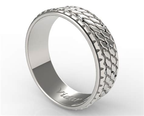 custom diamonds tire wedding ring vidar jewelry unique