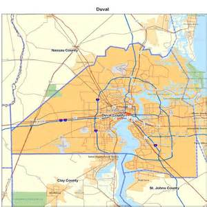 Duval County Zip Code Map by Duval County Fl Map Images