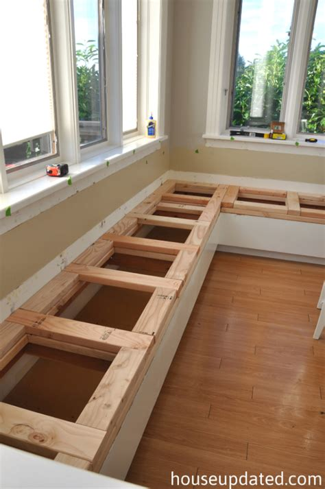 how to build a kitchen bench breaking down and building up the banquette house updated