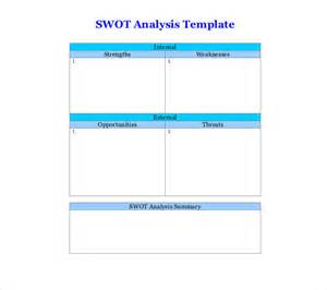 free swot analysis template 8 blank swot analysis templates free sle exle