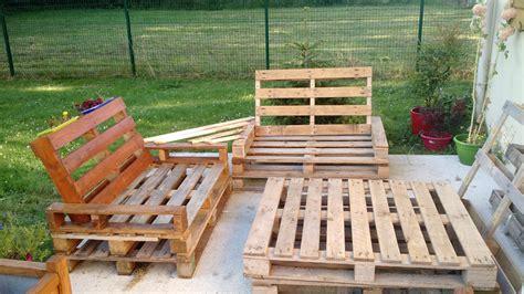 canapé en palette en bois meuble jardin palette bois inspirations avec banc lounge