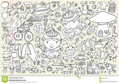 doodle element doodle sketch notebook elements set stock images image