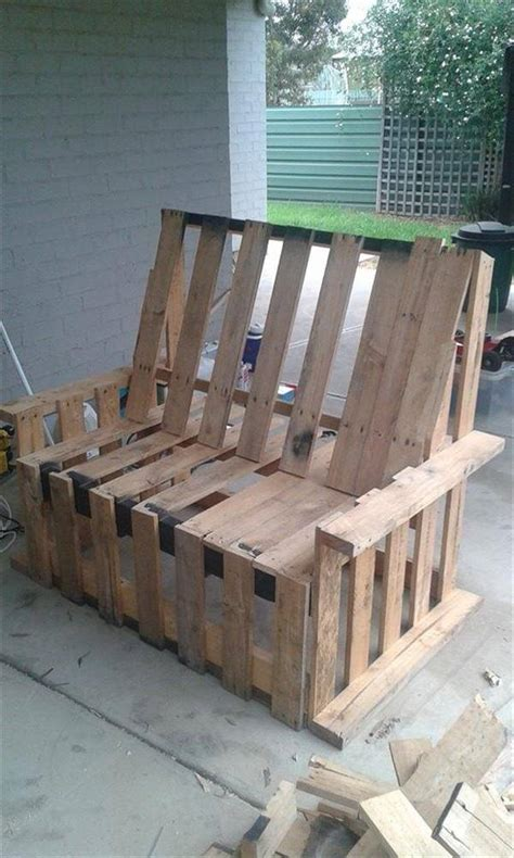 diy pallet outdoor rustic bench pallet furniture diy diy reclaimed pallet bench outdoor ideas 99 pallets