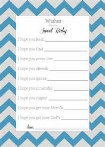 wishes for baby template printable printable wishes for baby chevron by emilyerdiedesigns on
