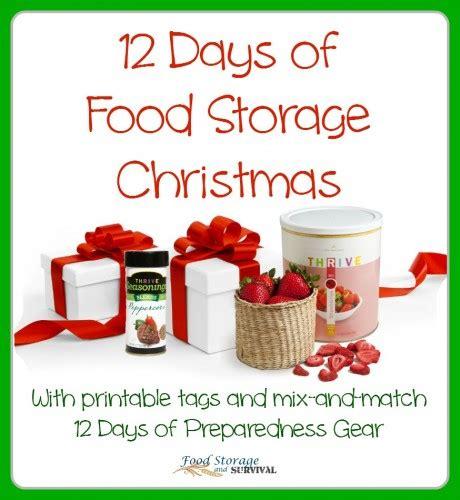 twelve days of christmas food storage survival