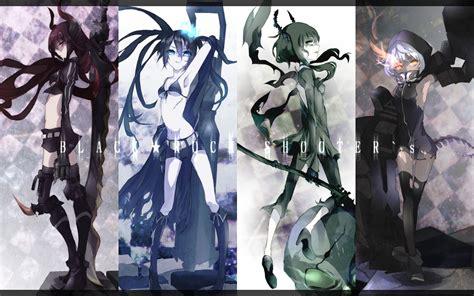 Kaos Black Rock Shooter Duo 1 black rock shooter anime anime and illustrations skull wallpaper black