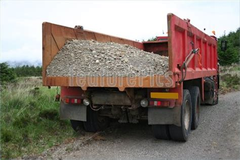 Truck Load Of Gravel Photograph Of Truck With Gravel Load