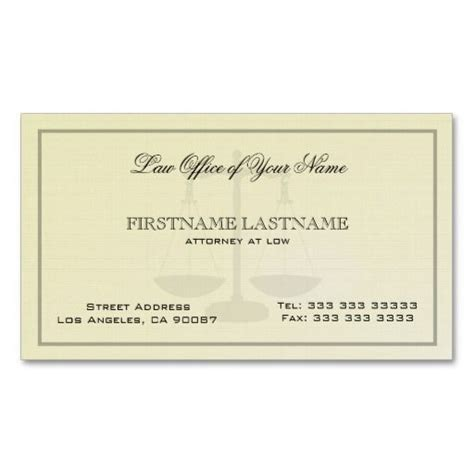 Attorney Business Card Template by Attorney At Low Office Simple Linen Texture Business Card