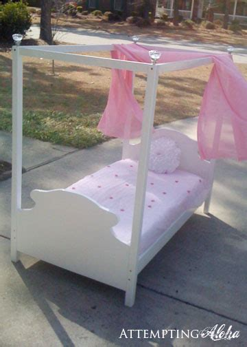 how to build a canopy bed attempting aloha how to make a toddler canopy bed tutorial