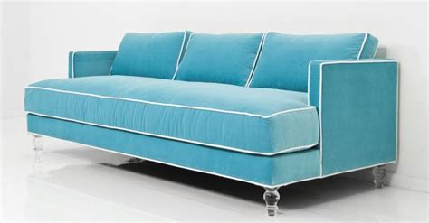Aqua Sofa by Www Roomservicestore With Sofa In Aqua Velvet