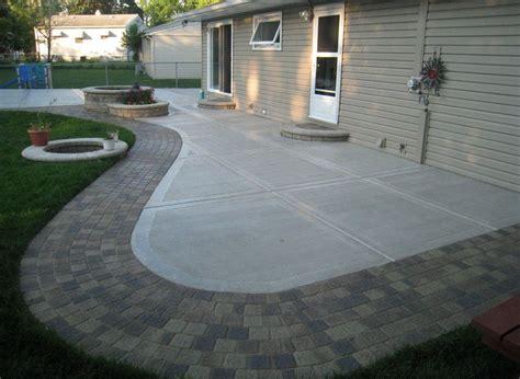 Cement Patio Ideas by Backyard Concrete Patio Ideas Backyard Landscaping Ideas