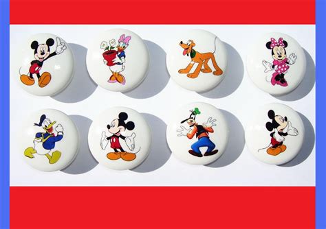8 mickey mouse and friends dresser drawer knobs by