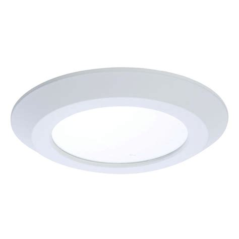 Recessed Light Fixtures For Ceilings Halo Sld 5 In And 6 In White Integrated Led Recessed Ceiling Mount Light Fixture At 1000