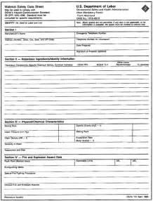 Material Data Sheet Template by Msds Sheet Carpot Info