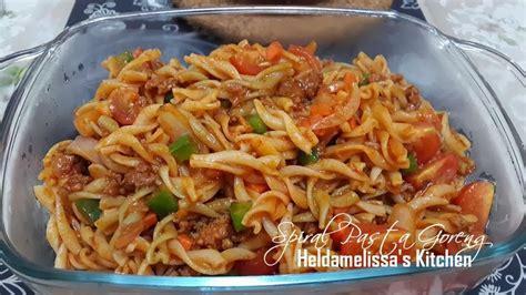 heldamelissas kitchen fried spiral pasta