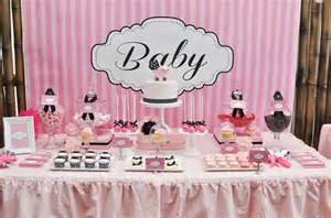 pink and white baby shower ideas pink white and black