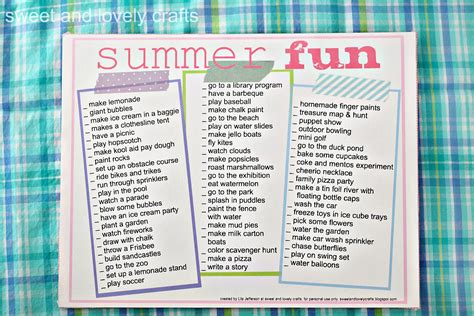 printable games for summer sweet and lovely crafts summer fun printable