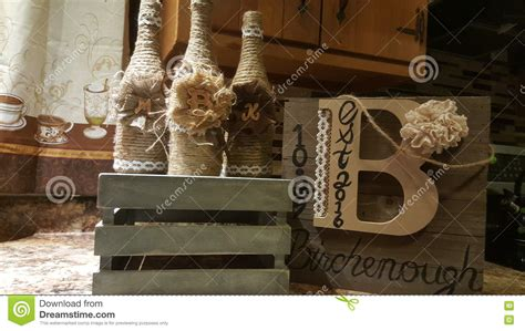 country chic decor country chic decor stock photo image of wine bottles