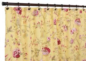 Yellow Floral Curtains Ellis Curtain Coventry Medium Scale Floral Shower Curtain Color Yellow 730000000000