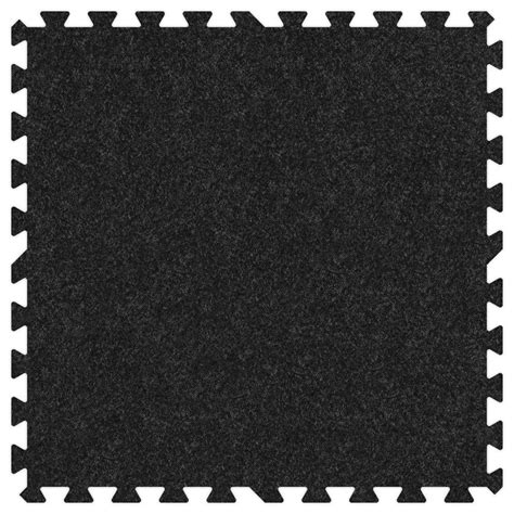 Comfortable Mat by Groovy Mats Charcoal 24 In X 24 In Comfortable Carpet
