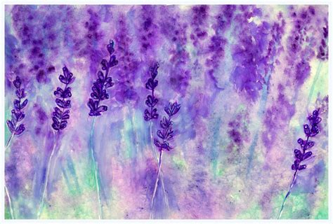 lavendar paint watercolor painting lavender youtube