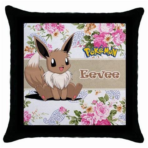 Eevee Pillow by Eevee Throw Pillow Black