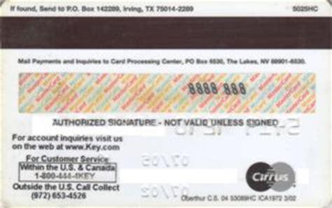 Key Bank Gift Card - bank card key bank mastercard key bank united states of america col us mc 0065