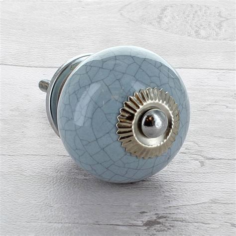 Cupboard Knobs Ceramic Grey Ceramic Door Knobs Cupboard Drawer Pull Handles By G